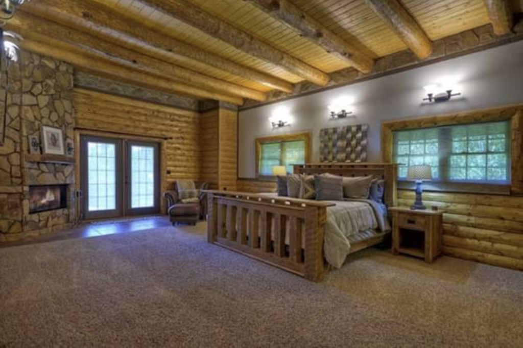 Beautiful spacious King Bedroom with access to the porch