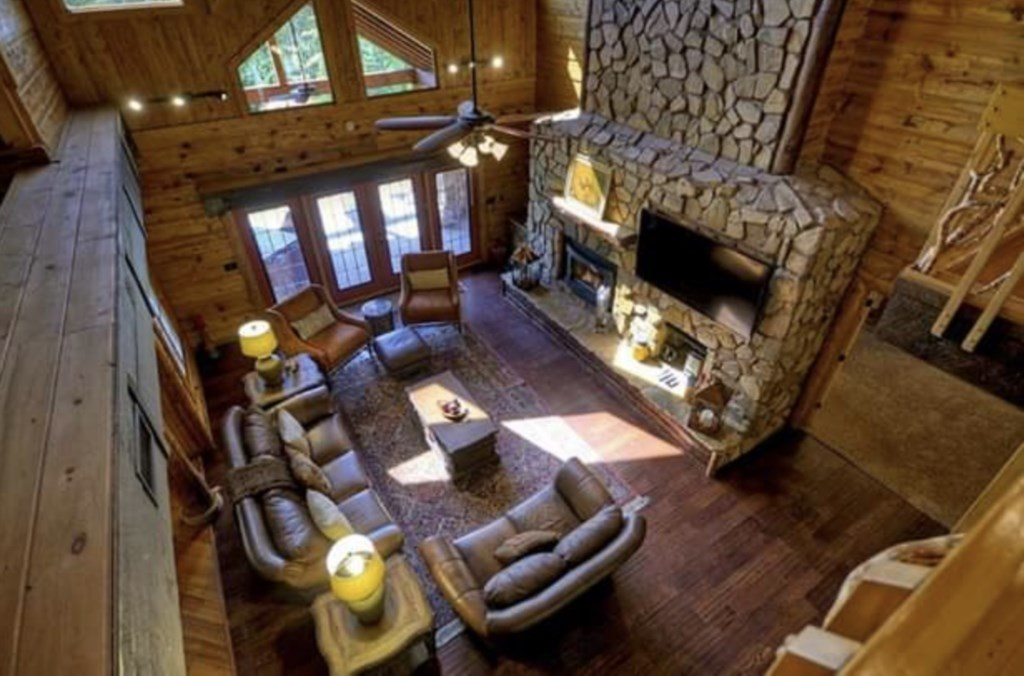 Ariel view of the Sitting Room