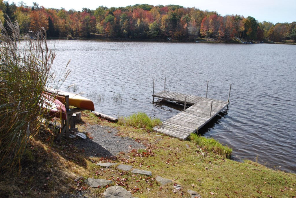 Use the canoe, boat or kayak and launch directly from our dock