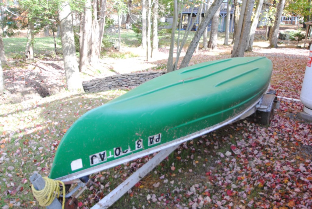 Enjoy the canoe for some fun on the lake
