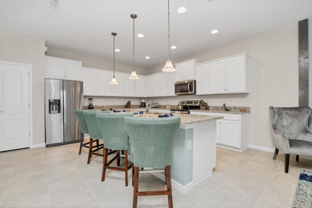 Gorgeous kitchen with barstool seating