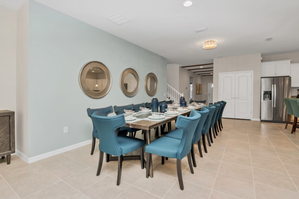 View 2 of beautiful dining table seating 14