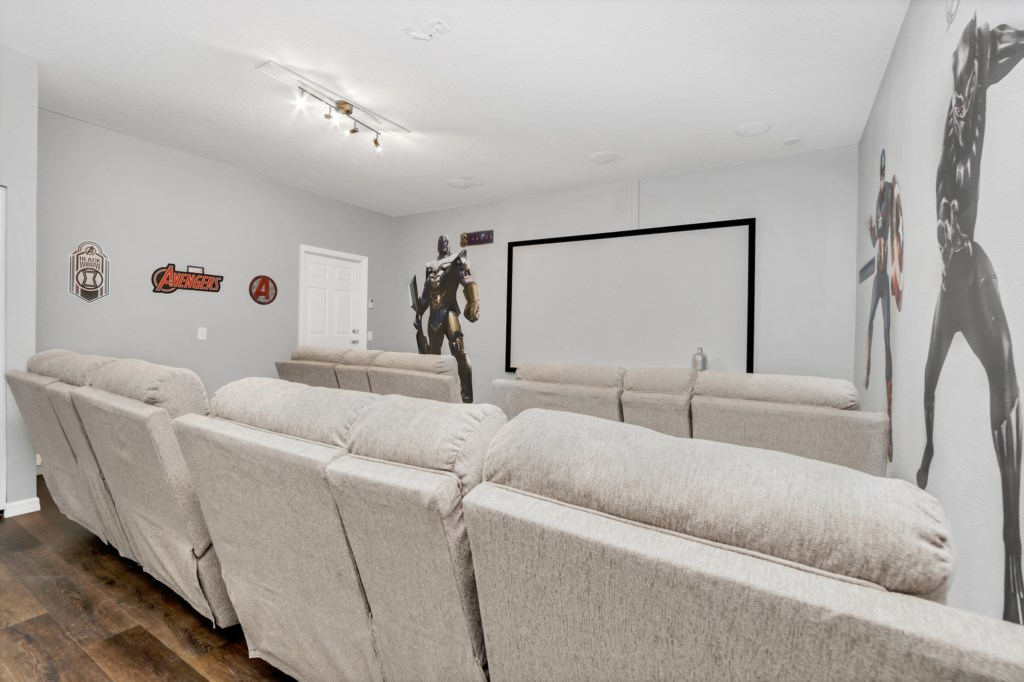 View 3 of awesome Marvel themed movie theater with projector