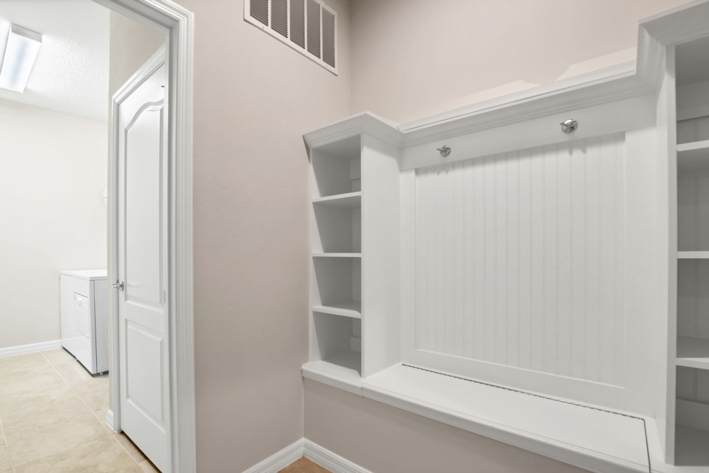Convenient full size laundry room