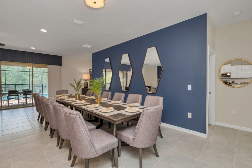 Dining table seating 14