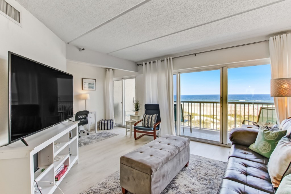 Relax with some TV and Ocean Views