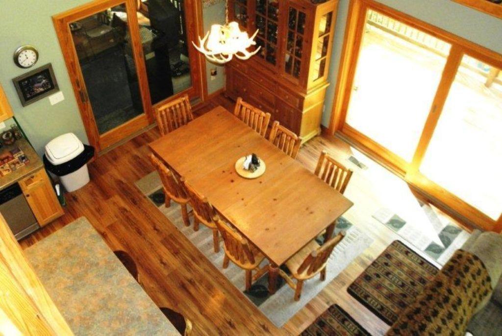 Main floor, dining area