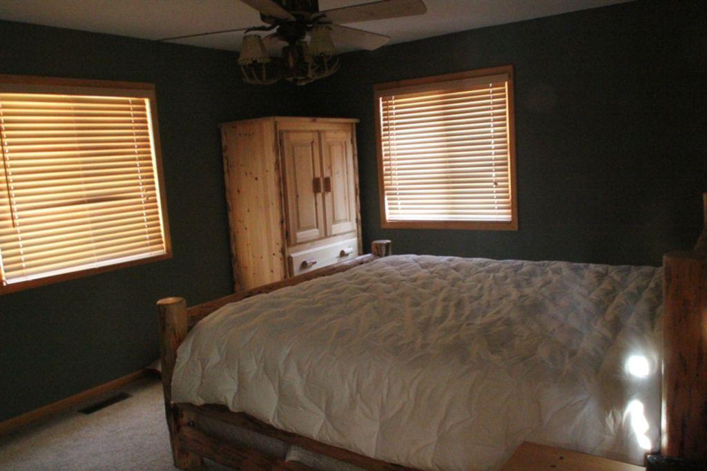 Upper level, bedroom, with queen bed