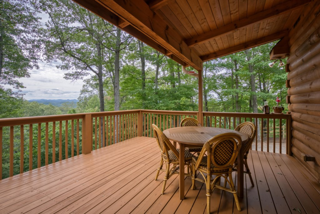 Enjoy the outside  deck on the main floor