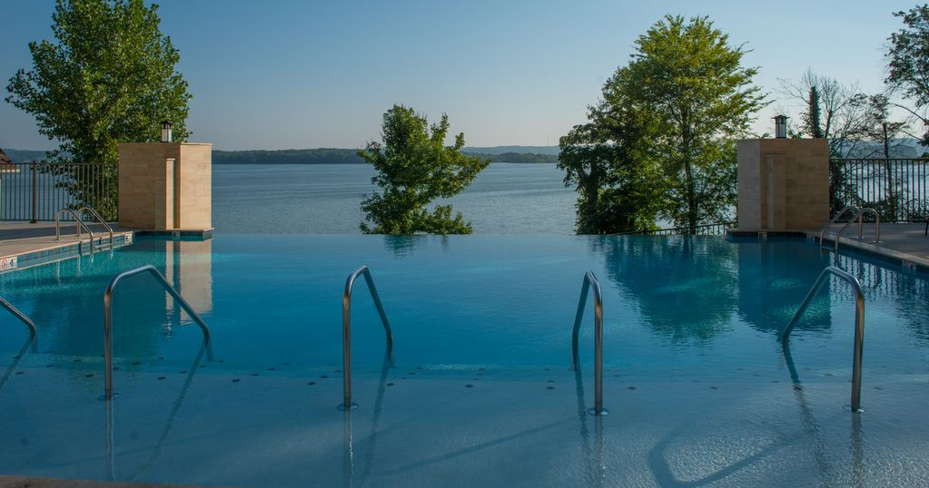 Unwind and take in the beautiful views lounging at the exquisite Infinity Pool