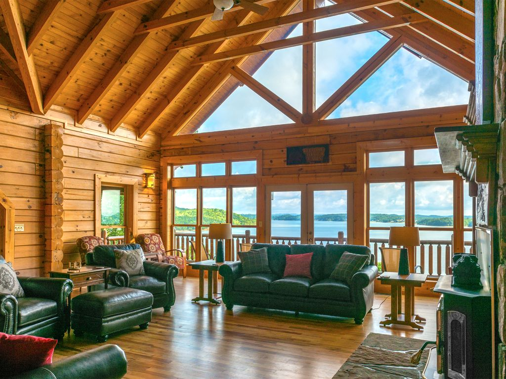 Your Charming Living Room with Jaw Dropping views of Douglas Lake