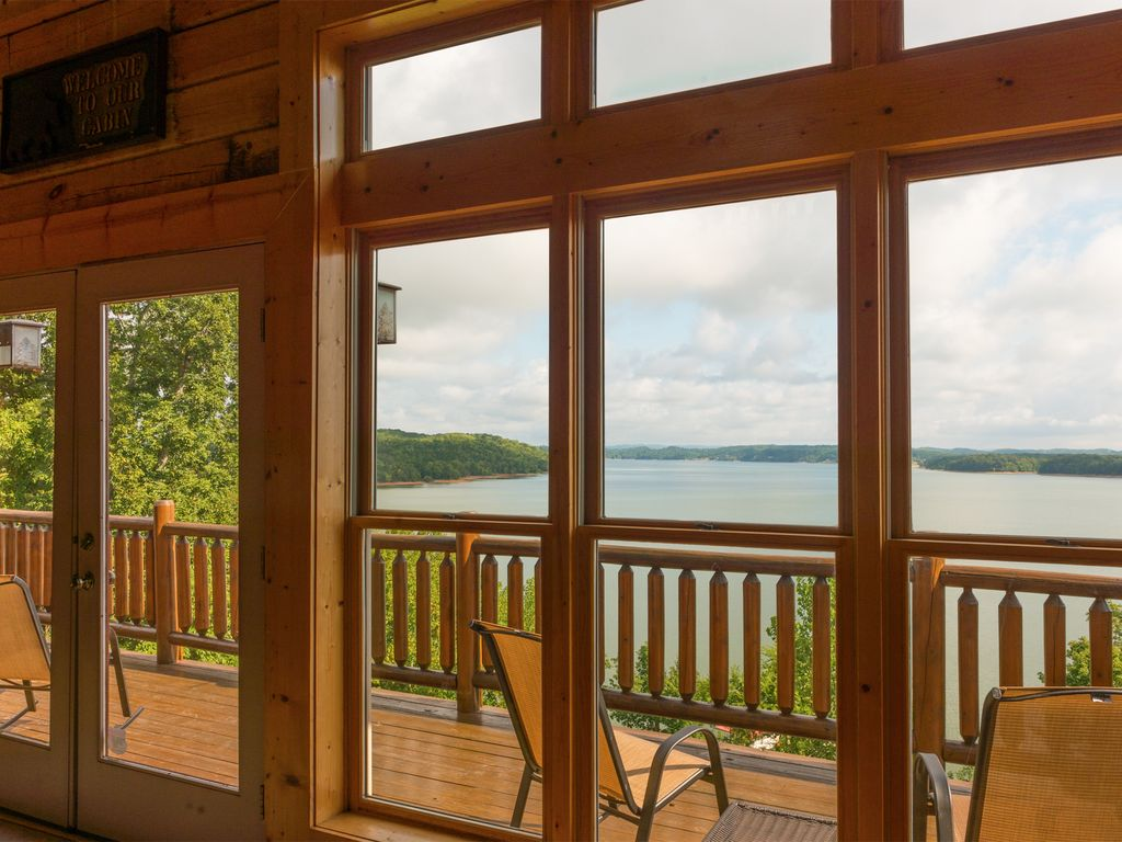 Breathtaking views of Douglas Lake from your own private deck.