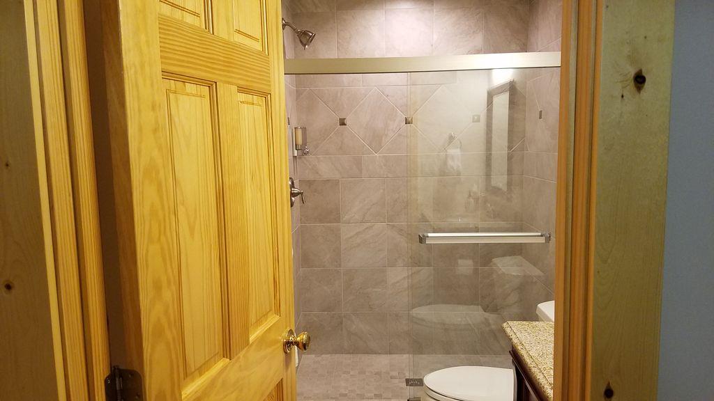 Private custom built bathroom for Basement bedroom #5