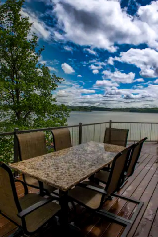 Savor Breathtaking views of Douglas Lake from your own private deck.