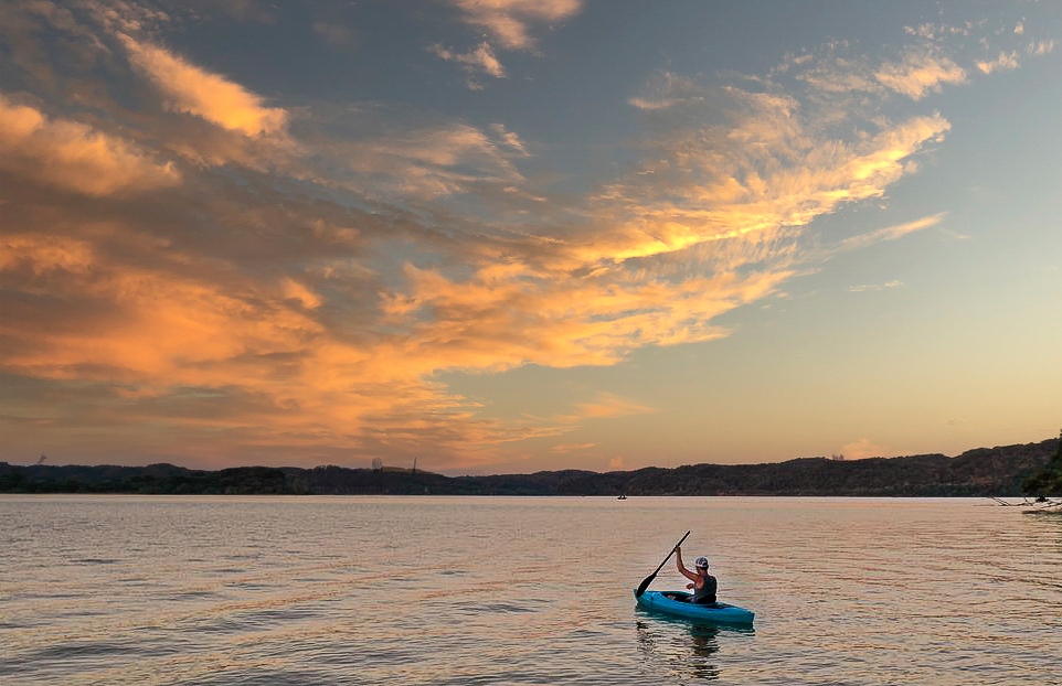 You can Kayak right off the dock and Explore the unknown.....
