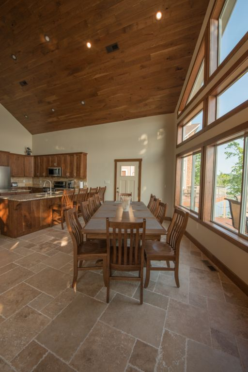 Large open dinning room to fit your whole family