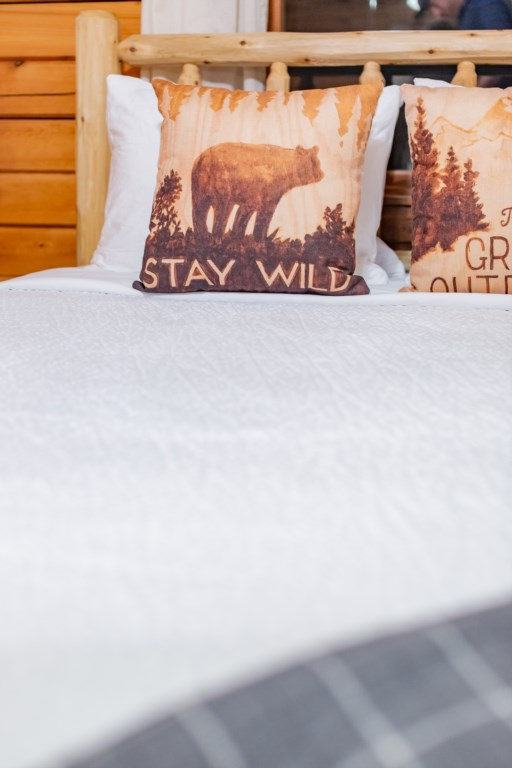 Decorative pillows to add to the aesthetic of the cabin.