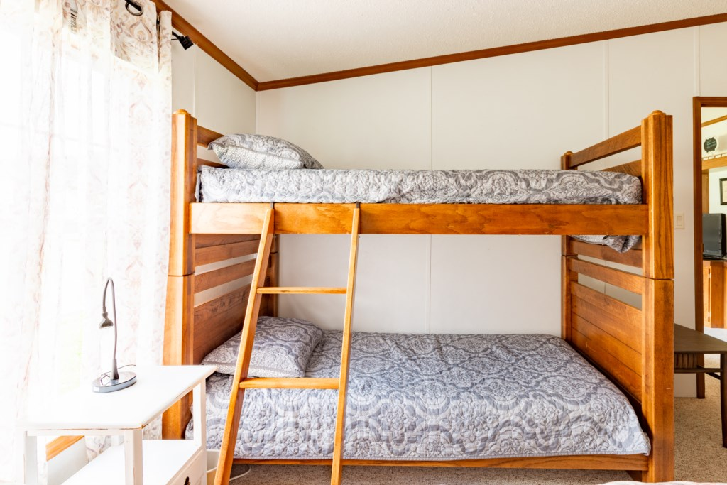 Twin over twin bunk.