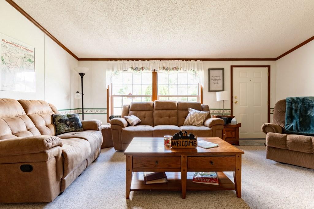 Very spacious living room.