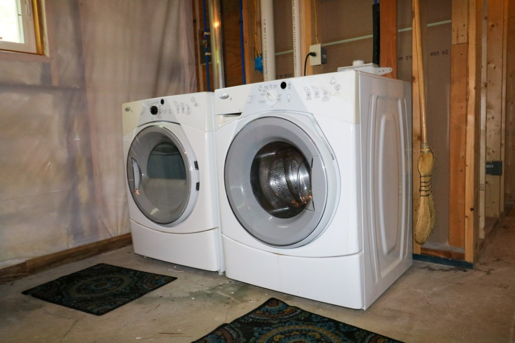 Washer and Dryer found in basement