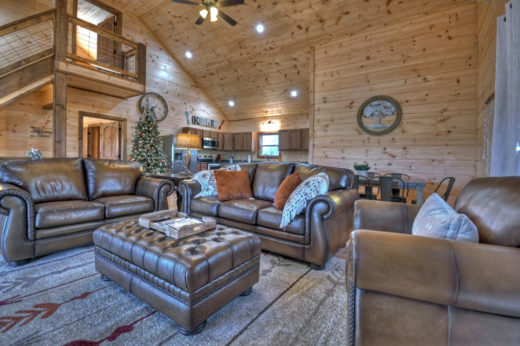 Open concept living ideal for large gatherings