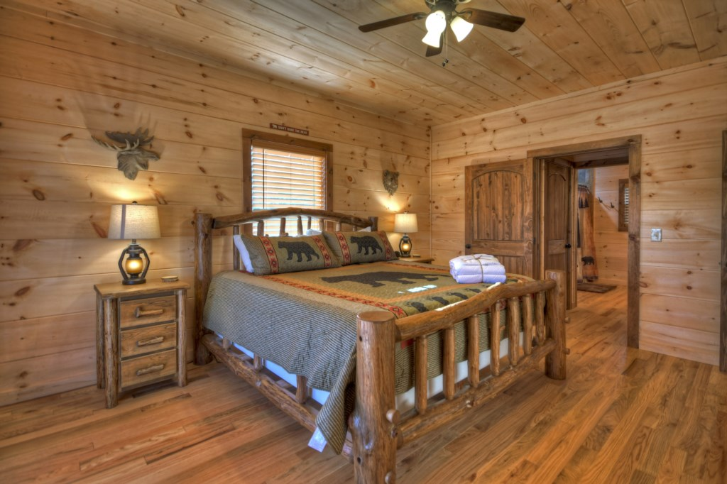 Master Bedroom with his/her closets and corner Jacuzzi tub