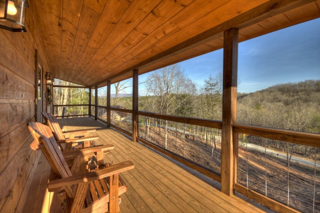 Expansive Wooded views from your large deck