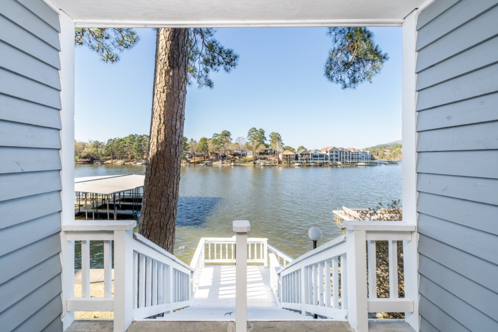 Walk down to the Community Dock and enjoy the day on the water