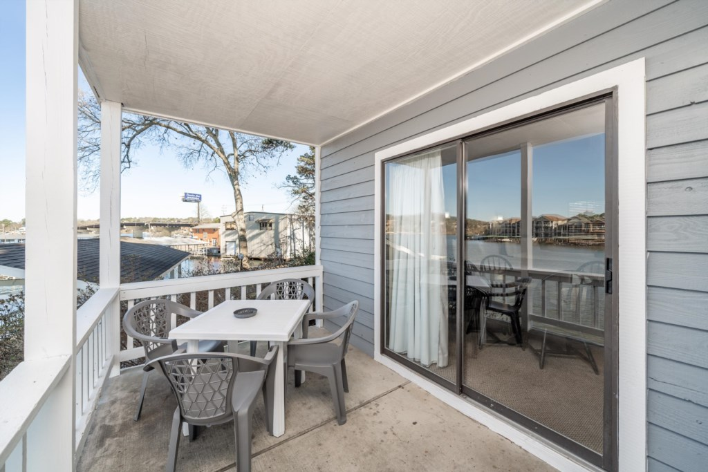 Step out onto your Private Balcony to enjoy magnificant Lake views