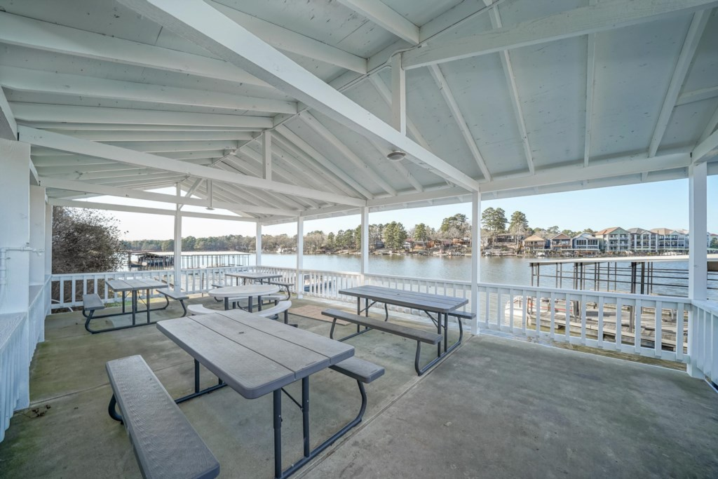 Te Community Pavilion is the perfect place to host a cookout or just relax with a drinik and friends