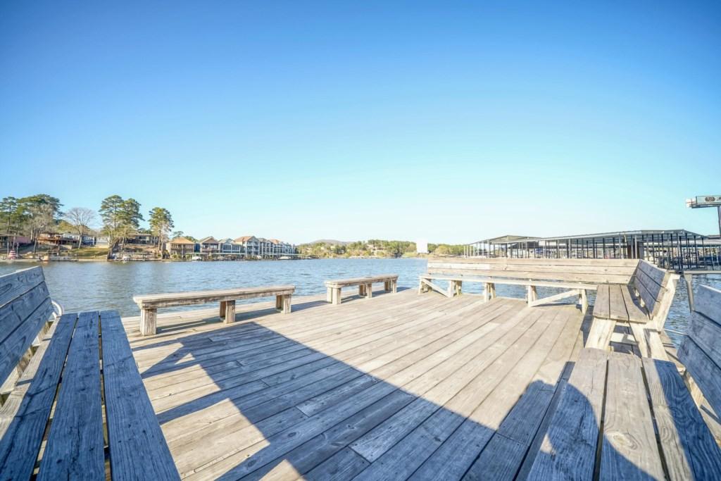 Enjoy the Community Swim Dock