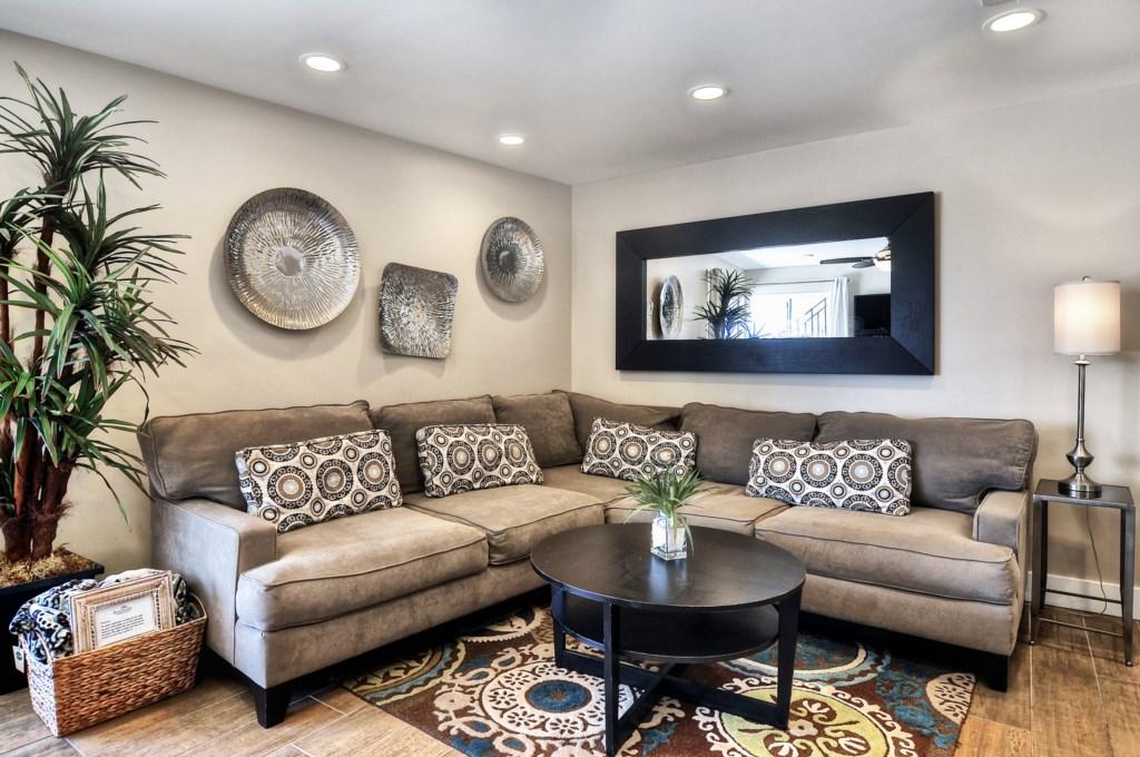 Newport beach vacation rental  living room