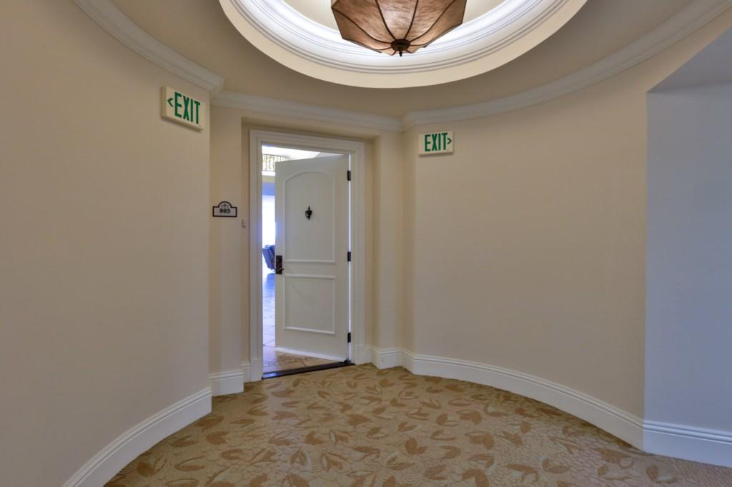 Front door in Hallway