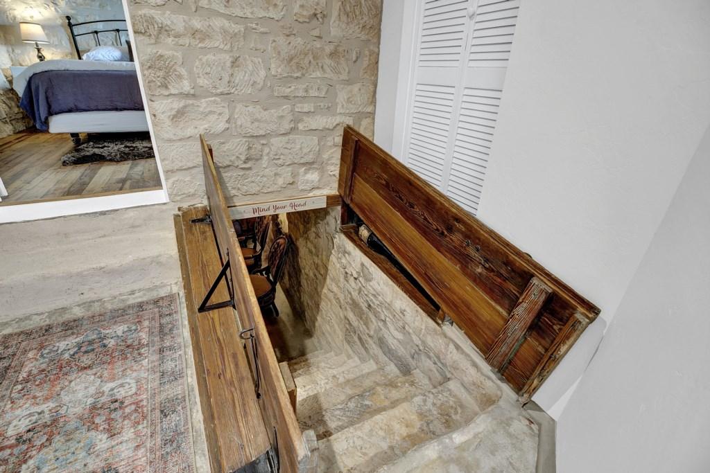 Indoor Wine Cellar Entrance