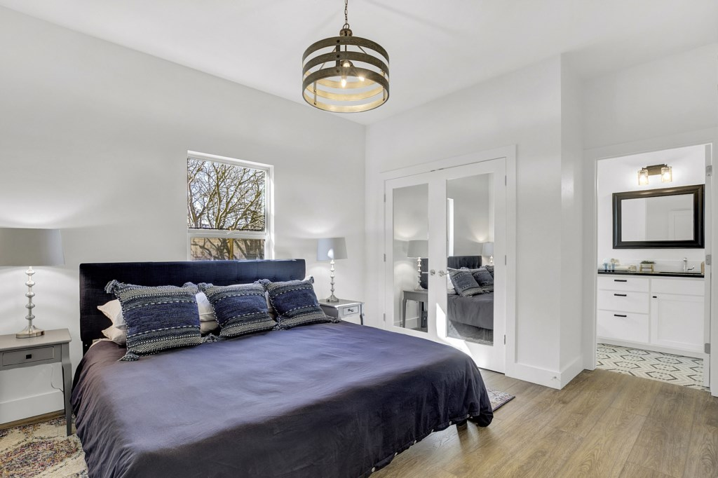 Luxurious and spacious master bedroom with own private master bathroom!