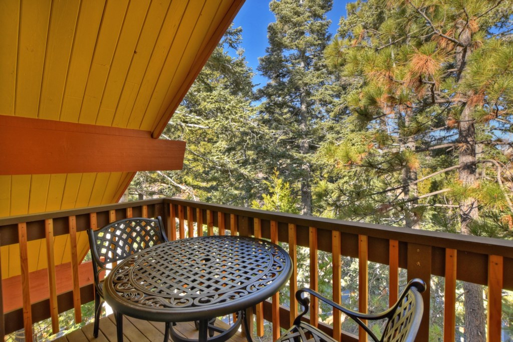 Master Bedroom deck with seating for 2