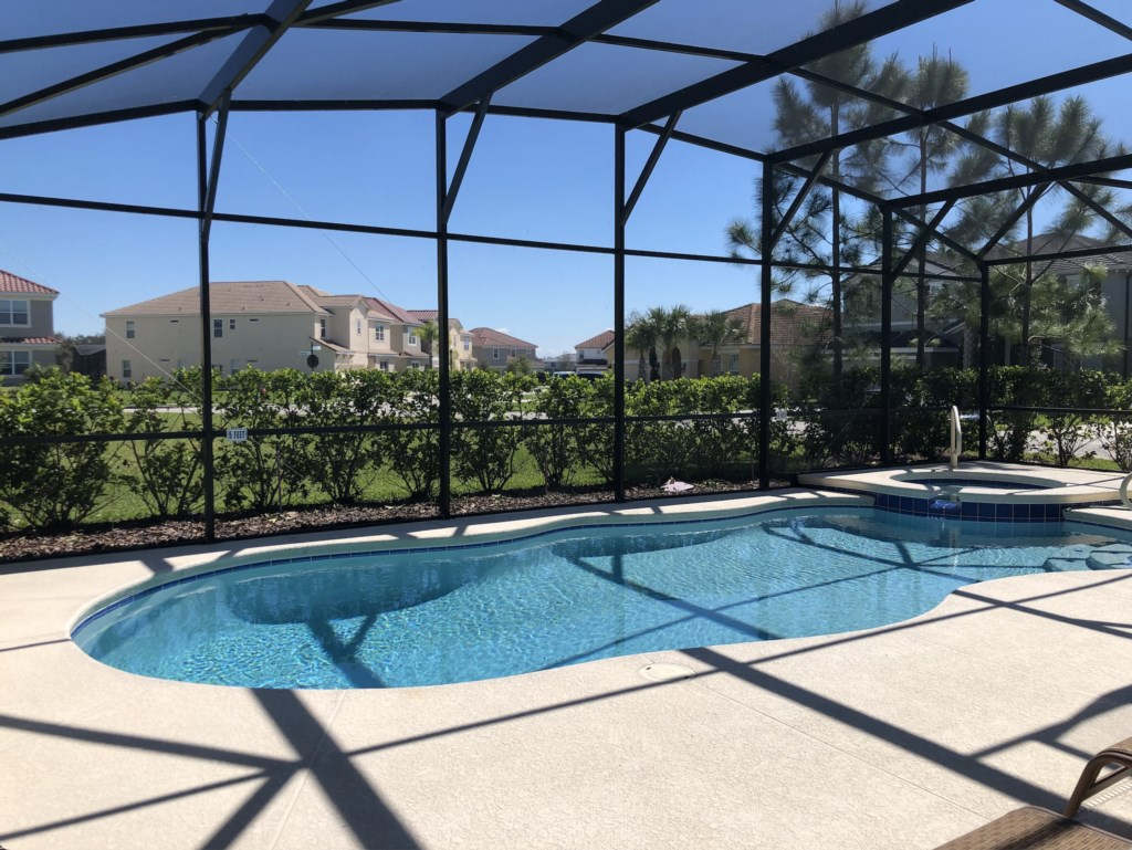 Gorgeous east facing pool and spa!