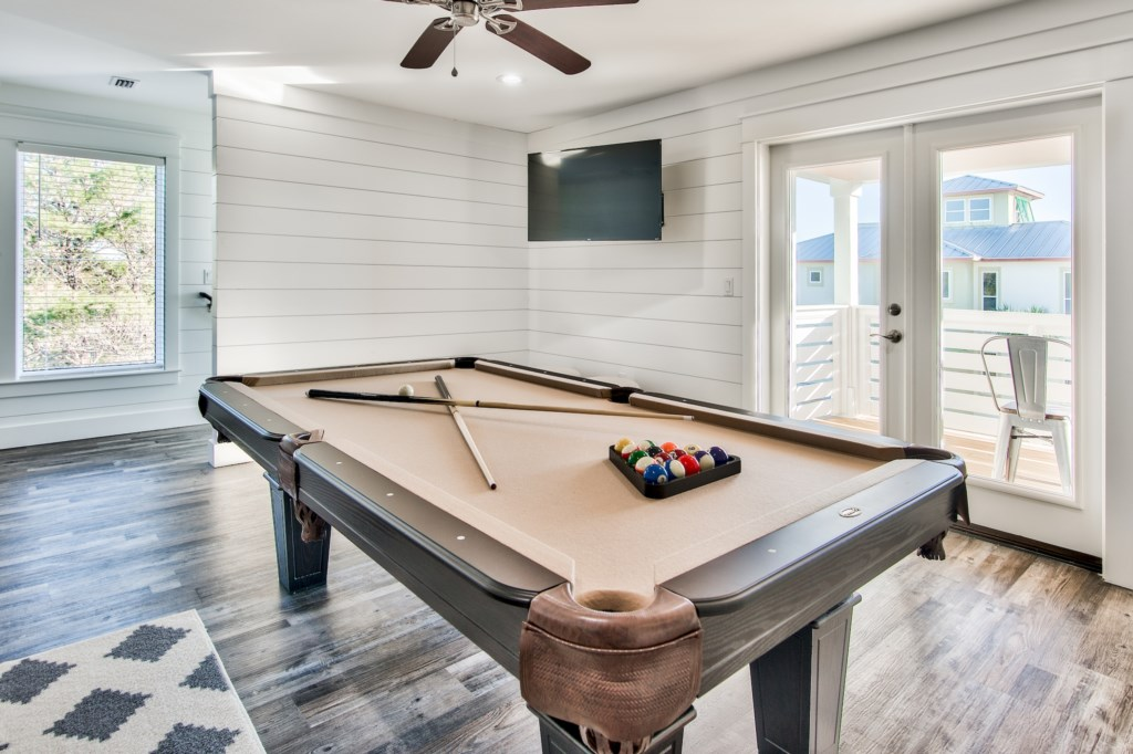 3rd Floor Game Room with Pool Table and Loft style Bunk space