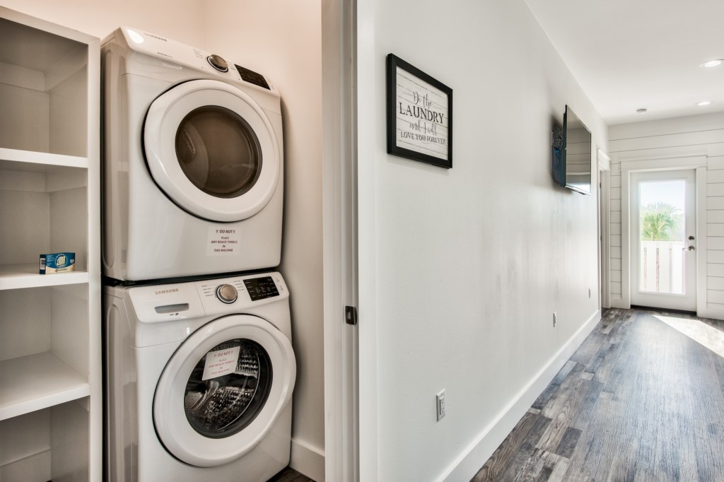 Conveniently located in-house laundry