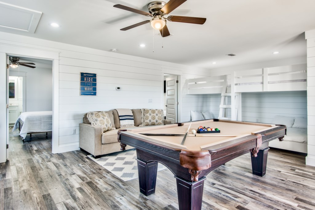 Large Game Room with Bunk Beds