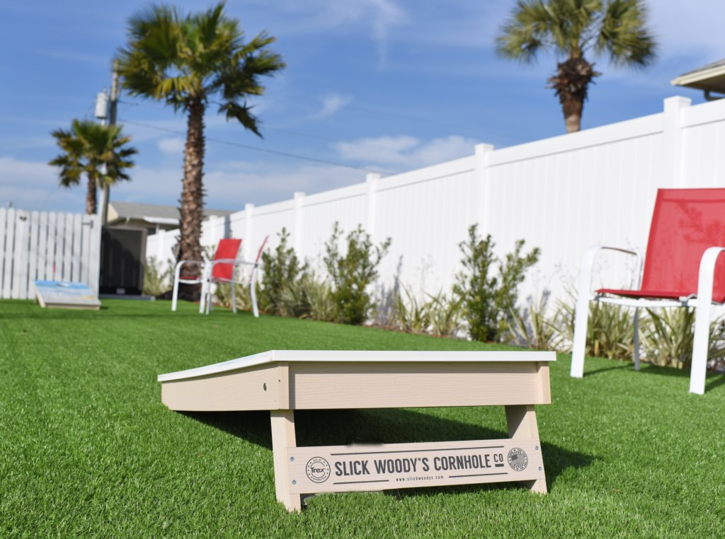 Cornhole Can Be Played Next To The Pool