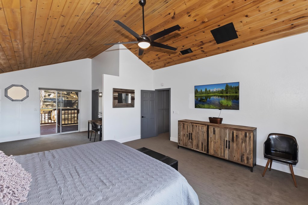 Upper Level Master King Bedroom with TV