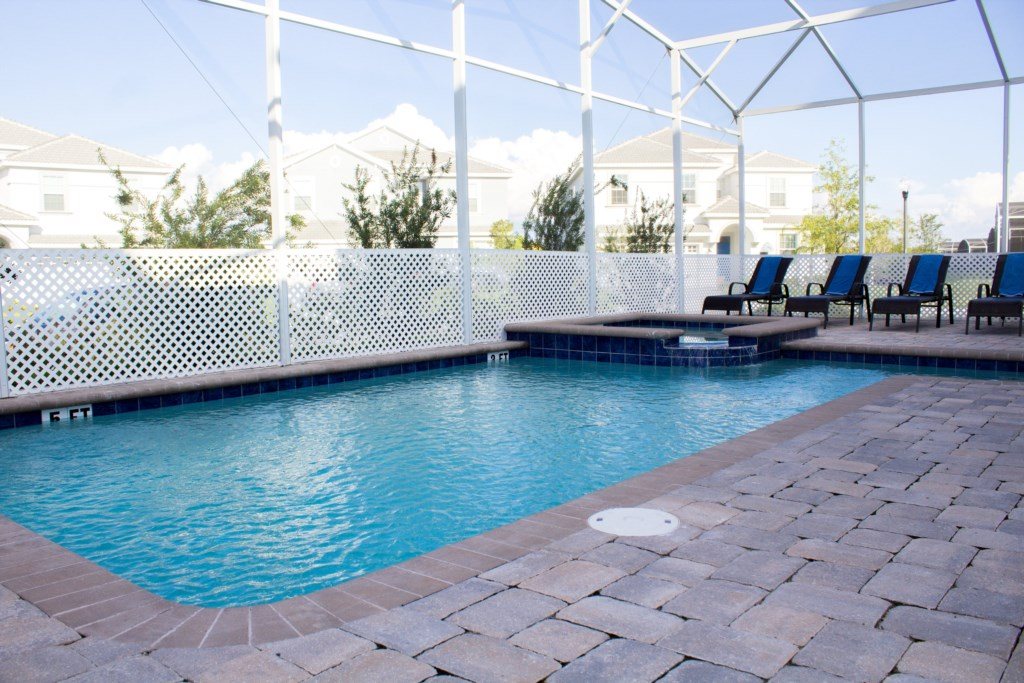 9 Bedrooms Water Park Home, Pool, Spa, Game Room @Champions Gate Near Disney (1573)