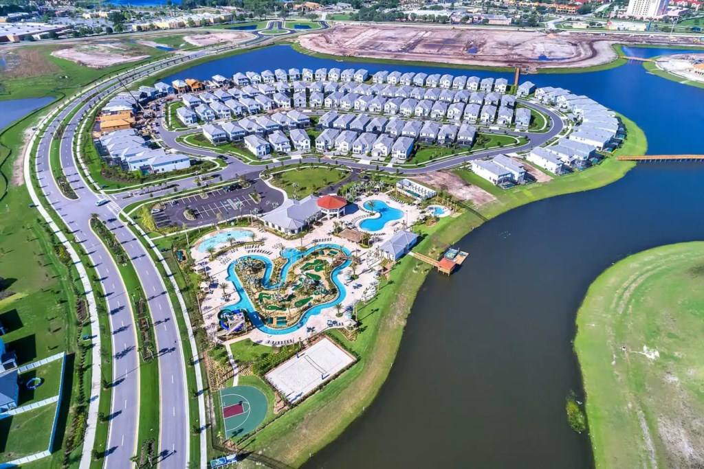 Aerial view of the Resort Pool and Water Resort