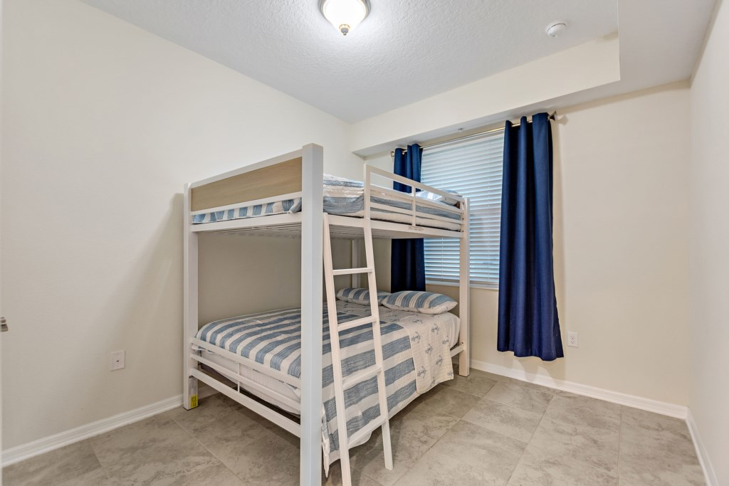 Bedroom 1 with double deck bed