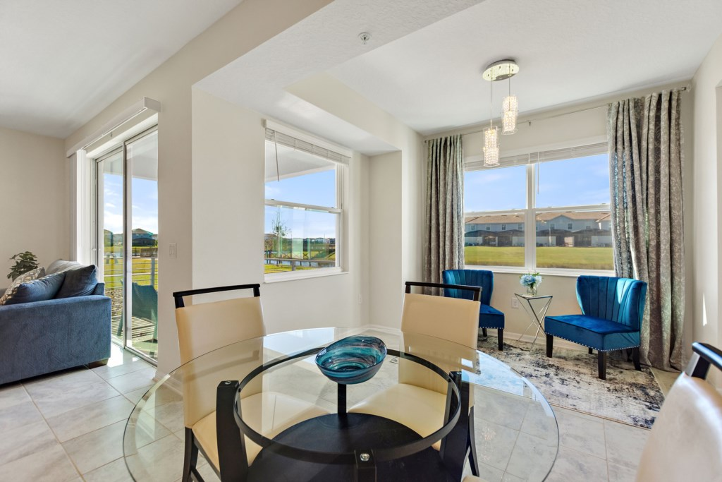 Comfortable setting dining area