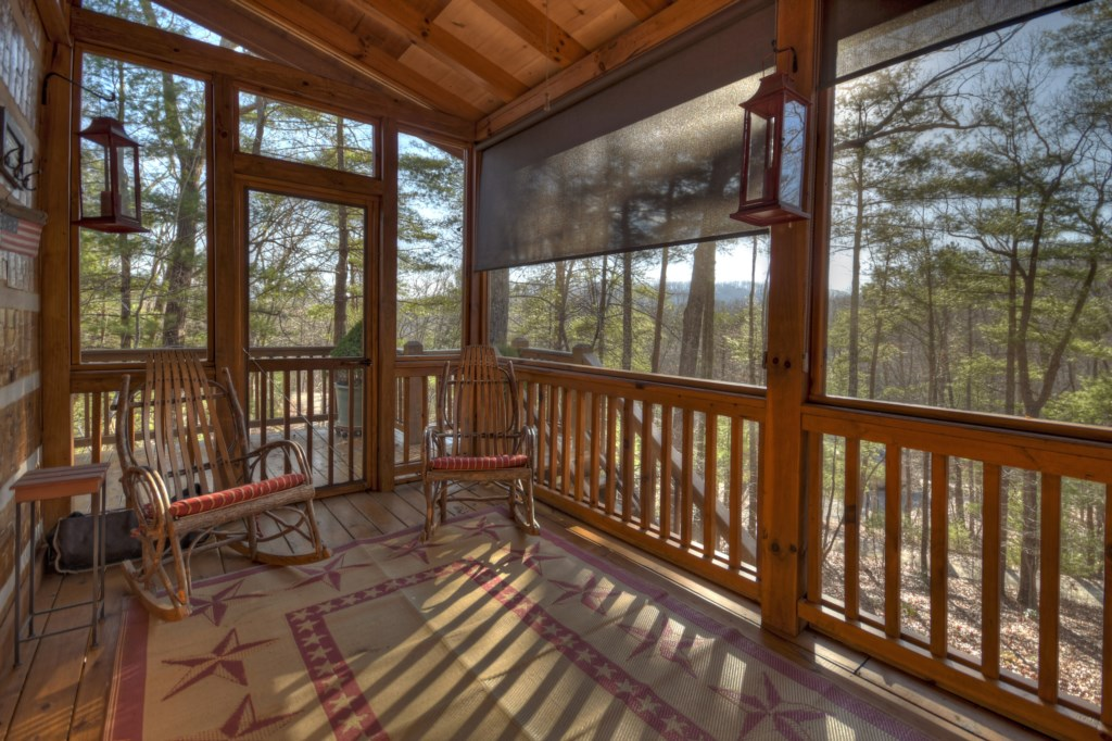 You can sit anytime morning or night in your screened in porch