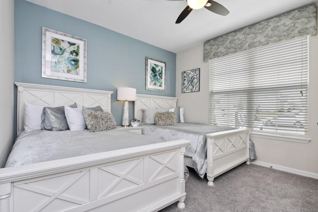 1st Floor - 2 double beds