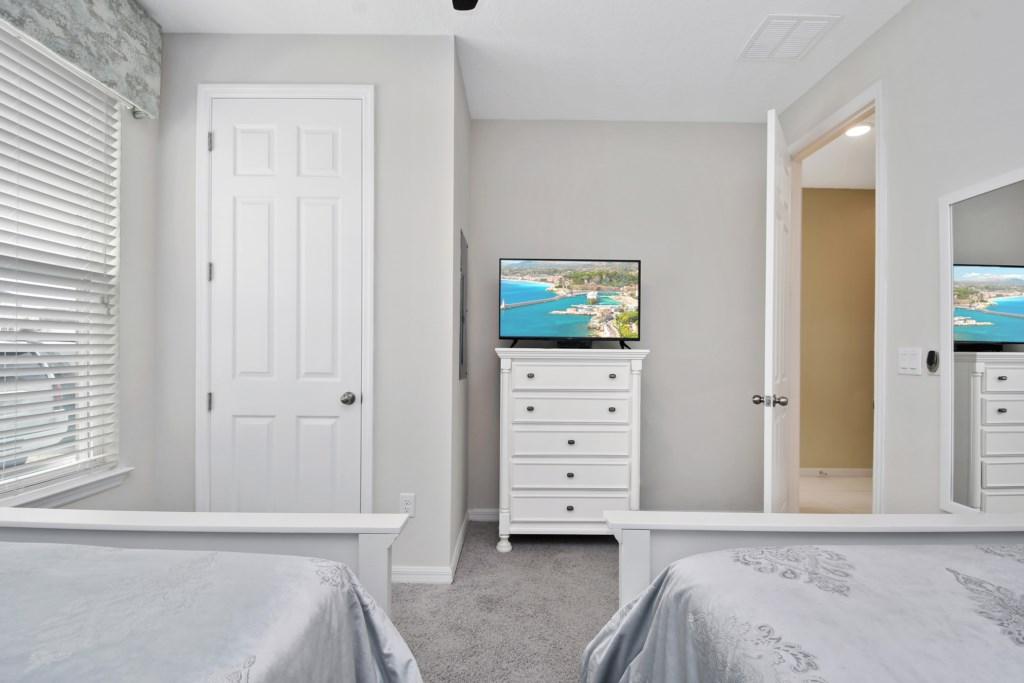 1st Floor Bedroom with flat screen tv