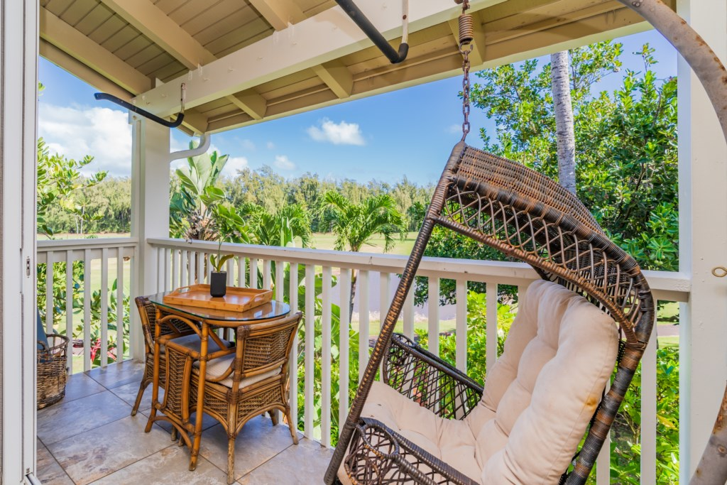 Covered Lanai w/View of Golf Course